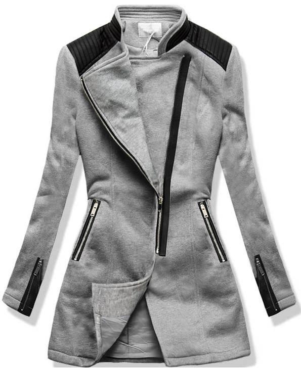 Šedý kabát V-8985