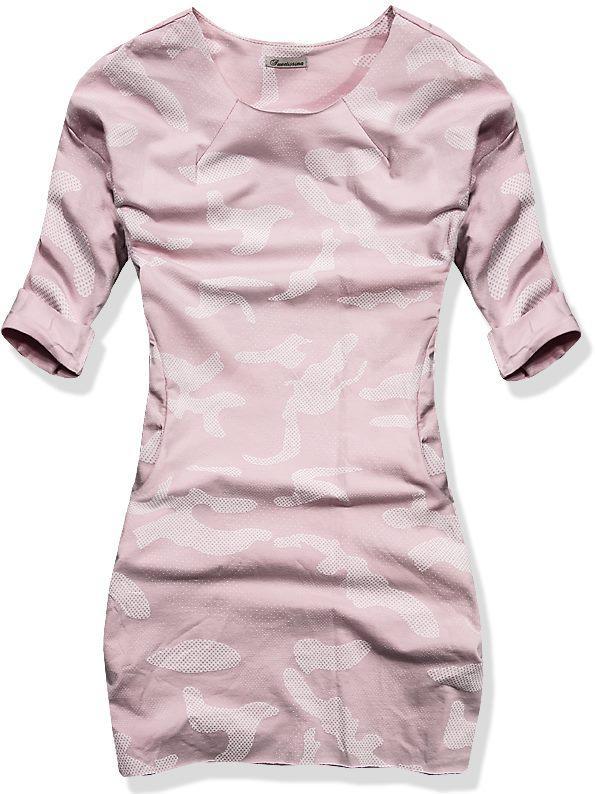 Starorůžové army šaty 11706