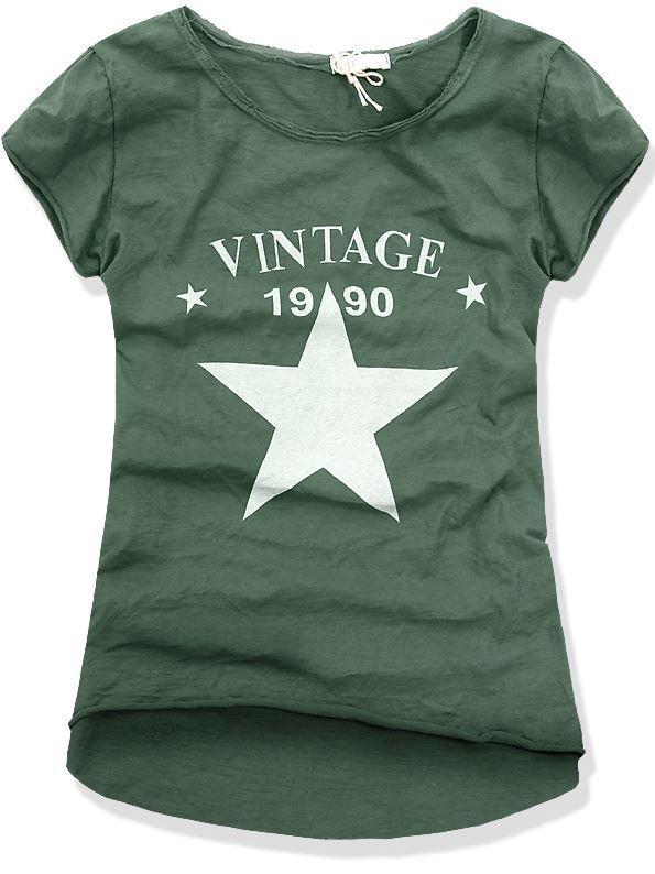 Zelené tričko VINTAGE 6170