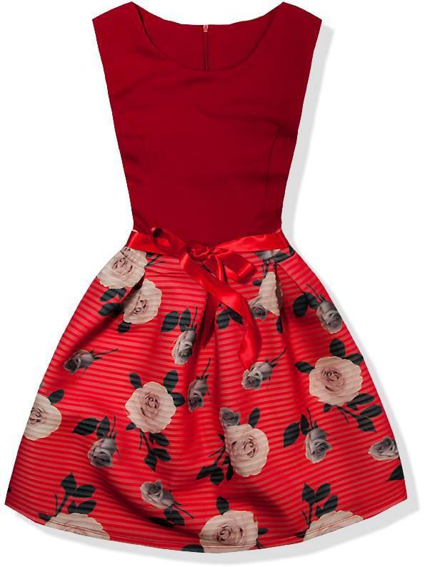 Červené šaty 3069