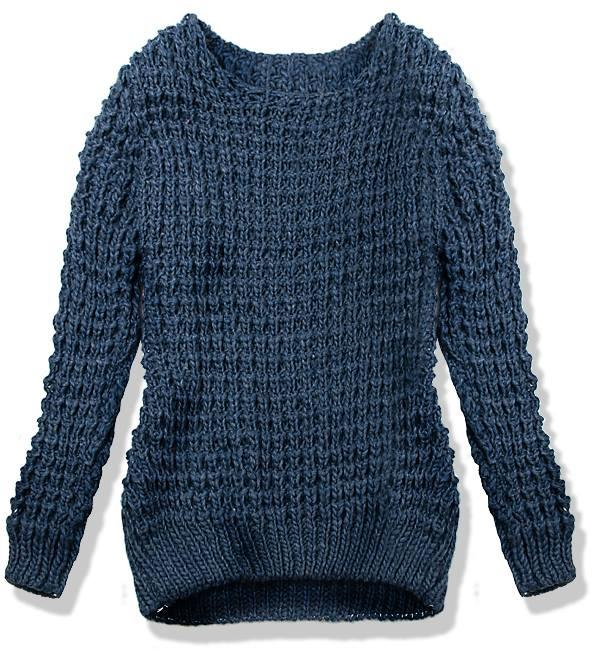 Jeans modrý pletený svetr LANA