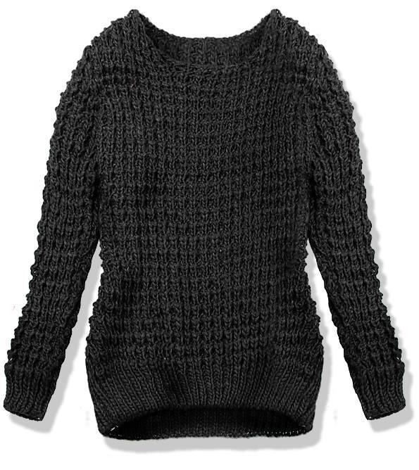 Černý pletený svetr LANA