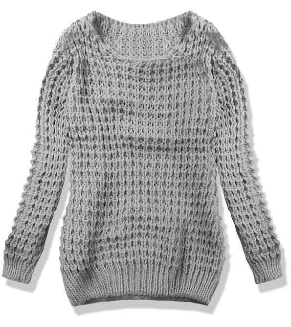 Tmavě šedý pletený svetr LANA