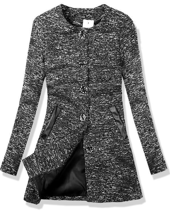 Černý přechodný kabát 6465