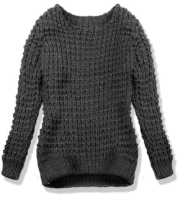 Grafitový pletený svetr LANA