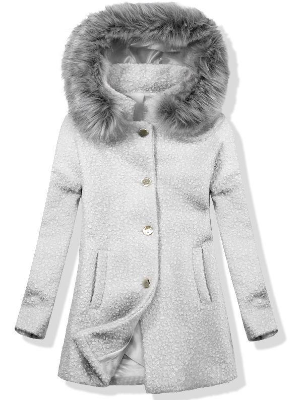 Vlněný podzimní kabát 1950 světle šedá/šedá