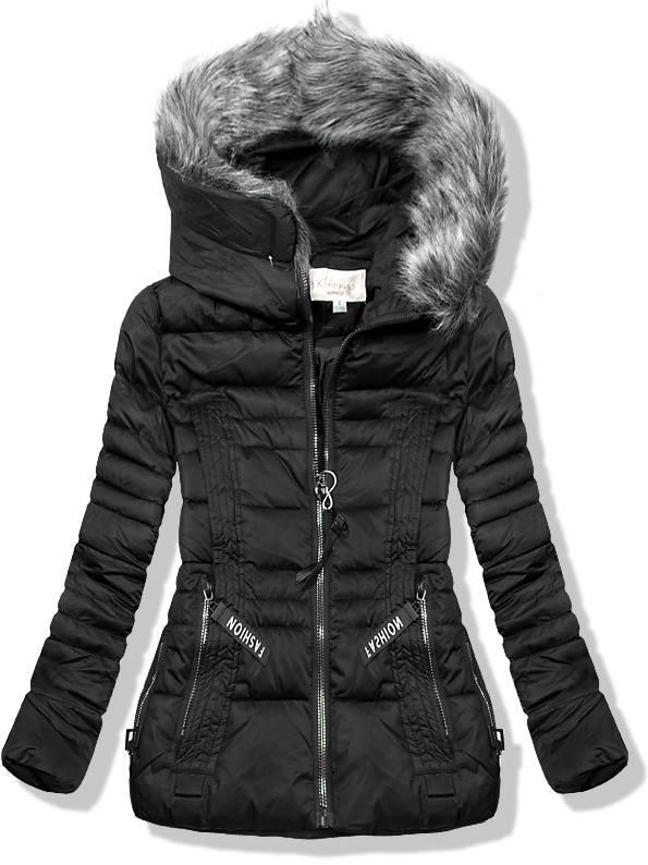 Černá krátká zimní bunda