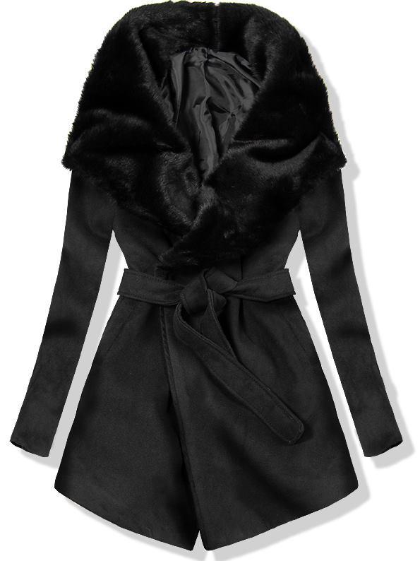 Černý kabát na zavazování