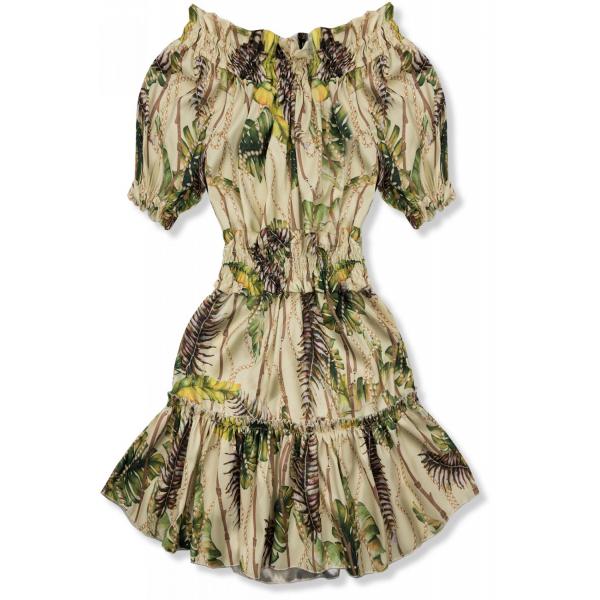 E-shop Béžovo-žluté šaty Serena/O'la Voga