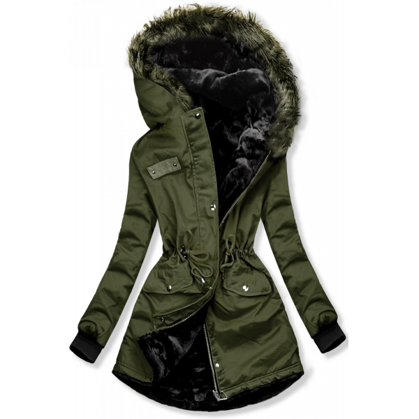 E-shop Zelená oboustranná zimní bunda