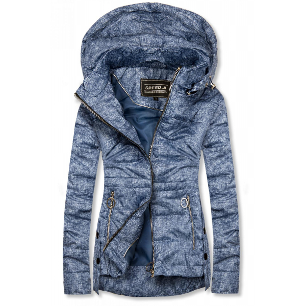 Jeans modrá světla lehká jarní bunda