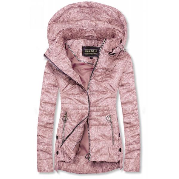 Růžová lehká jarní bunda