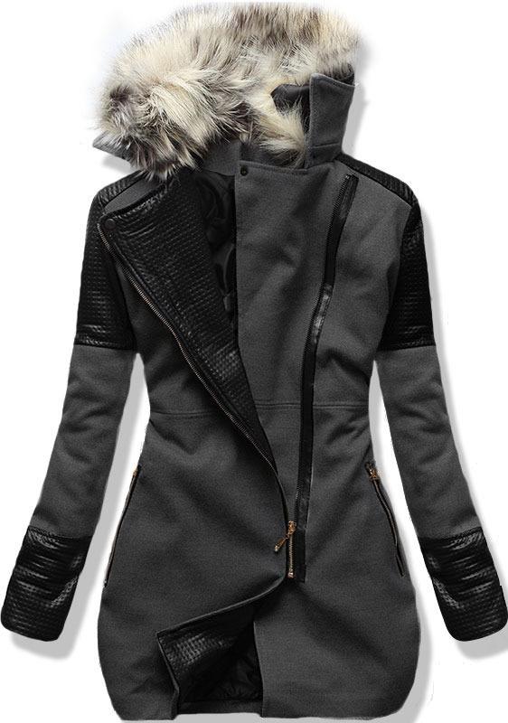 Grafitový kabát 6959