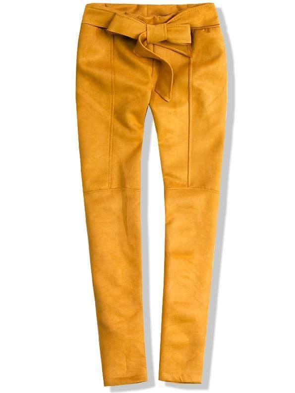 Žluté kalhoty se zavazováním